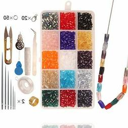 Glass Beads for Jewelry Making Supplies for Adults, 300 Pcs