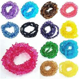 "Glass Crystal Chips Beads 36"" strand Jewelry Making Freeform"