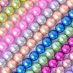 Glass Pearl Round Beads Wholesale for Jewelry Making Crafts