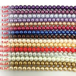 Glass Pearl Round Spacer Loose Beads 3mm 4mm 6mm 8mm 10mm 12