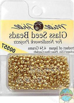 Mill Hill Glass Seed Beads 4.54G-Gold