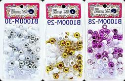 Tara Glitter Color 12 MM Plastic Beads For Braid Hair 150 Pi