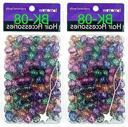 Tara Glitter Color 12 MM Plastic Beads For Braid Hair 180 Pi