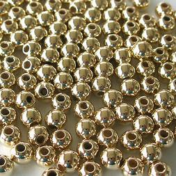 Gold 5mm Pearl Style Acrylic/Faux/Plastic Spacer Beads ~500