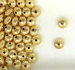 Gold Filled 7mm Rondelle Spacer Beads for Beading Designs &
