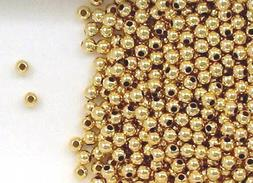 Gold-Filled Round Spacer Beads 3mm Seamless for Beading or J