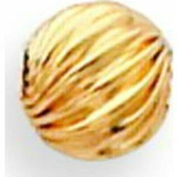 Gold Filled Twisted Corrugated Round Beads 6.0mm - Pack of 6