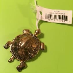 Golden Turtle Pendant by Bead Corner #637 - Blue Moon Bead C