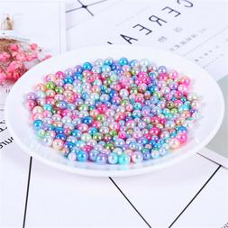 Gradient Color Imitation Pearls Beads With No Holes Craft De