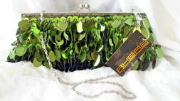 SASHA HANDBAG NY ST PATRICKS DAY EVENING PURSE GREEN SPARLIN