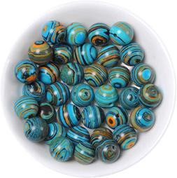 Handmade Malachite Beads for Jewelry Making Rainbow Beads in