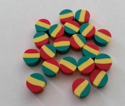 Fimo Rasta Disc Beads Lot of 20 OR 100 DIY Charm