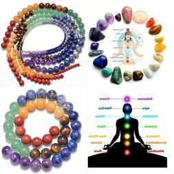 Healing Reiki 7 Chakras Yoga Natural Gemstone Round Beads 16