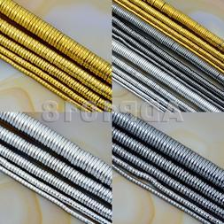 Hematite Gemstone Heishi Beads 16'' 1mm 2mm 3mm 4mm 6mm Meta