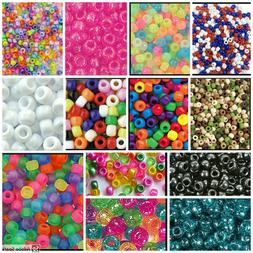 200 Barrel Pony Beads The Beadery Color Choice! Made in USA