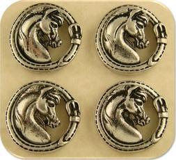 Horse Head Beads Arabian Pony Stallion Mare 2 Hole Sliders C
