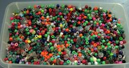 Huge Lot of Pony Beads -5 lbs multiple colors, and shapes