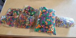 Huge Lot Over 1.5 pounds Plastic Pony Beads Transparent Meta