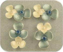 Hydrangea Flower Beads Lt Sapphire Blue Swarovski Elements 2