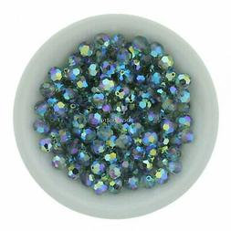 Indian Sapphire AB2X 6mm Swarovski Round Beads #5000