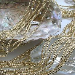 Japanese LIGHT Gold Faux/Plastic Pearls Beads Strands 2,3,4,