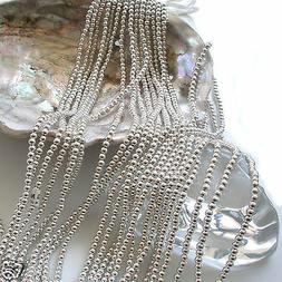 Japanese Silver Faux/Plastic Pearls Round Beads Strands 2,3,
