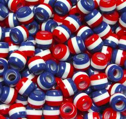 JOLLY STORE Crafts Patriotic Red White Blue Stripes 11x10mm
