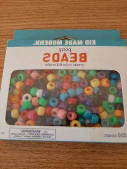 Kid Made Modern 250 Plastic Pony Beads Crafts for Kids Neckl
