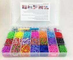 Kit Bracelet XL Loom Bands Rainbow Millenium 4200 Elastic +