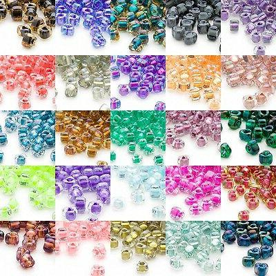 100 glass 4mm x 3mm two tone