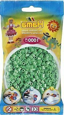 1000 Hama Light Green, 207-11 Color Iron On Midi Beads