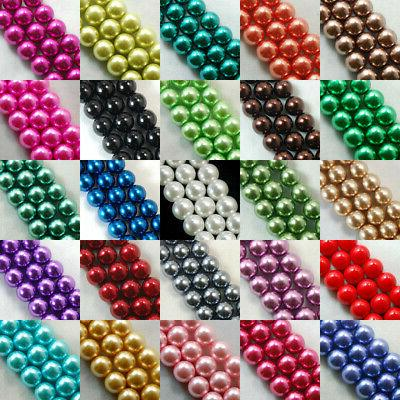 100pcs top quality czech glass pearl round