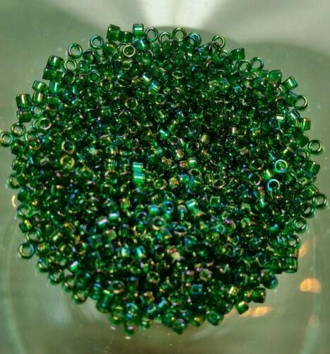 11 0 delica treasures beads avacado rainbow