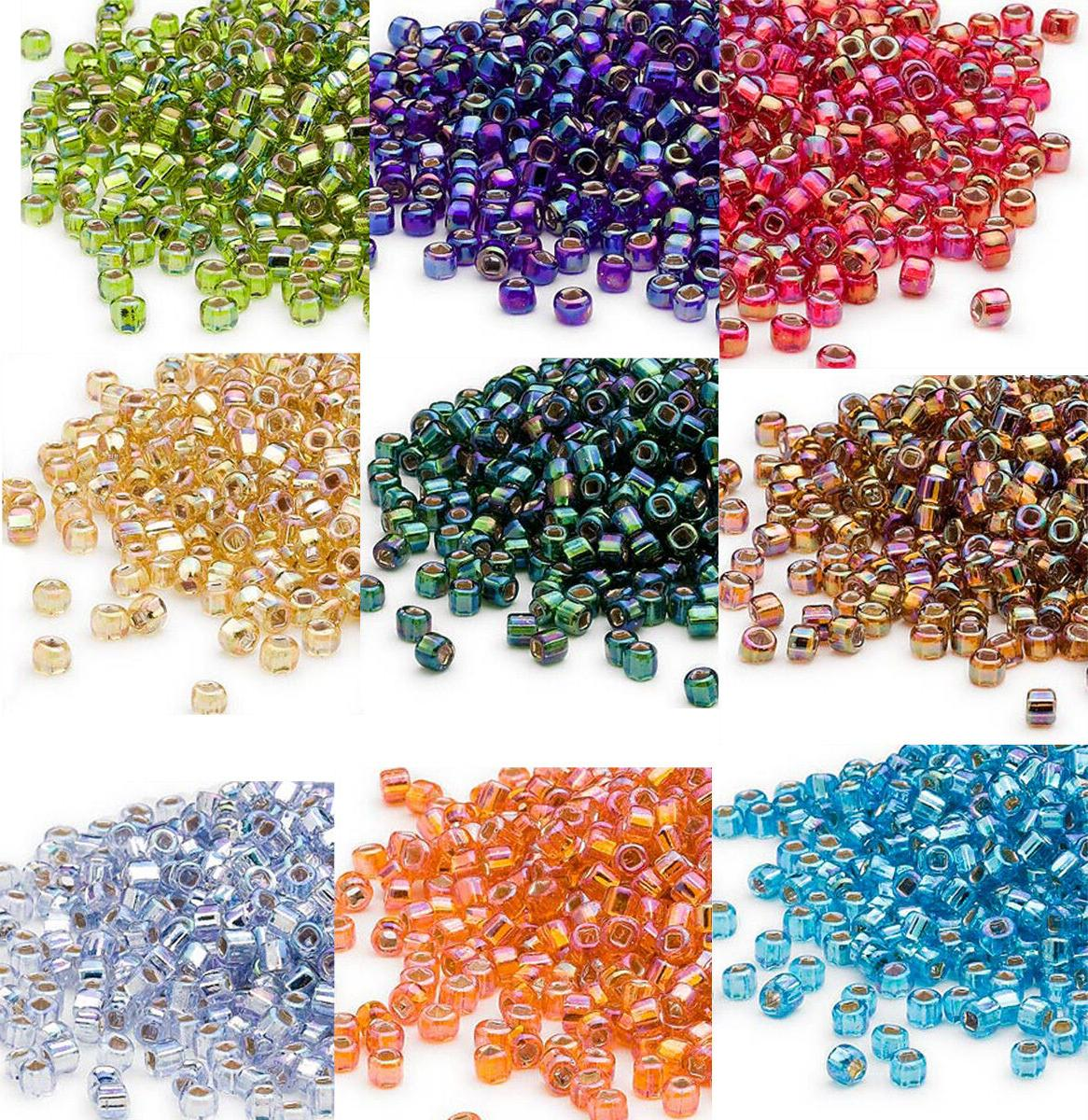 200 rainbow silver lined 6 0 glass