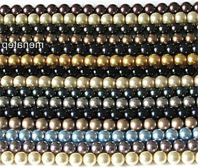 25 8 mm crystal pearls choose your