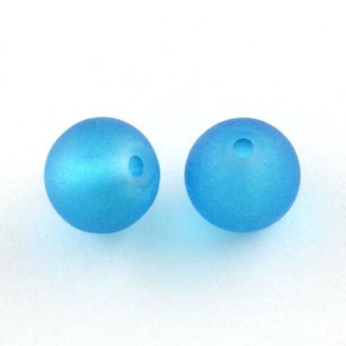 500pcs Frosted Beads Round Smooth Loose 6mm