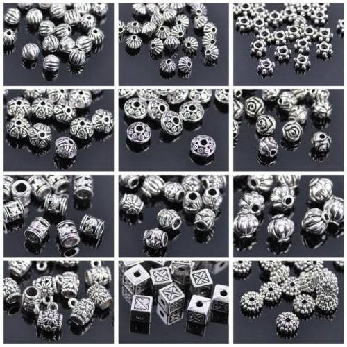 50pcs tibetan silver metal charms loose spacer