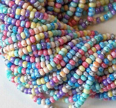 6/0 Picasso Rainbow Beads, Preciosa,