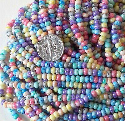 6/0 Picasso Rainbow Czech Seed Beads, Preciosa,