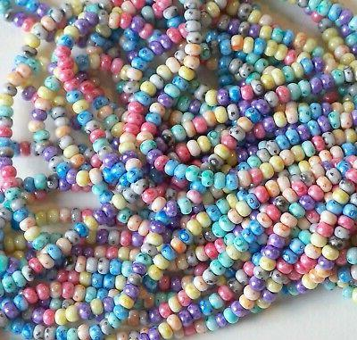 6/0 Rainbow Mix Beads, 4mm Preciosa,