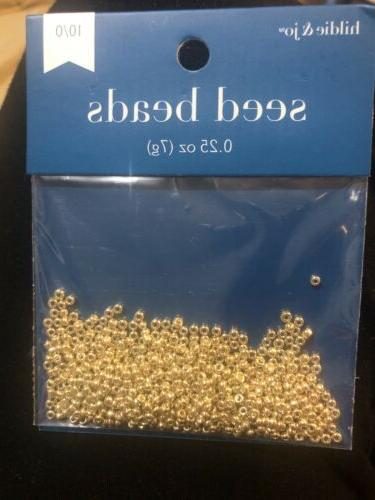 7g hildie and jo gold seed beads