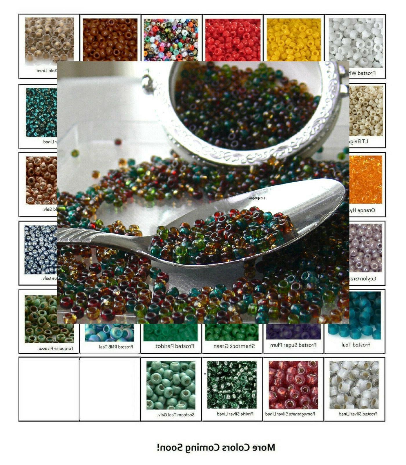 8 0 beads 10 grams glass seed