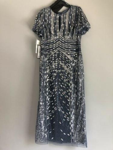 Aidan Beaded Midi Dress. Size 12. $440.00