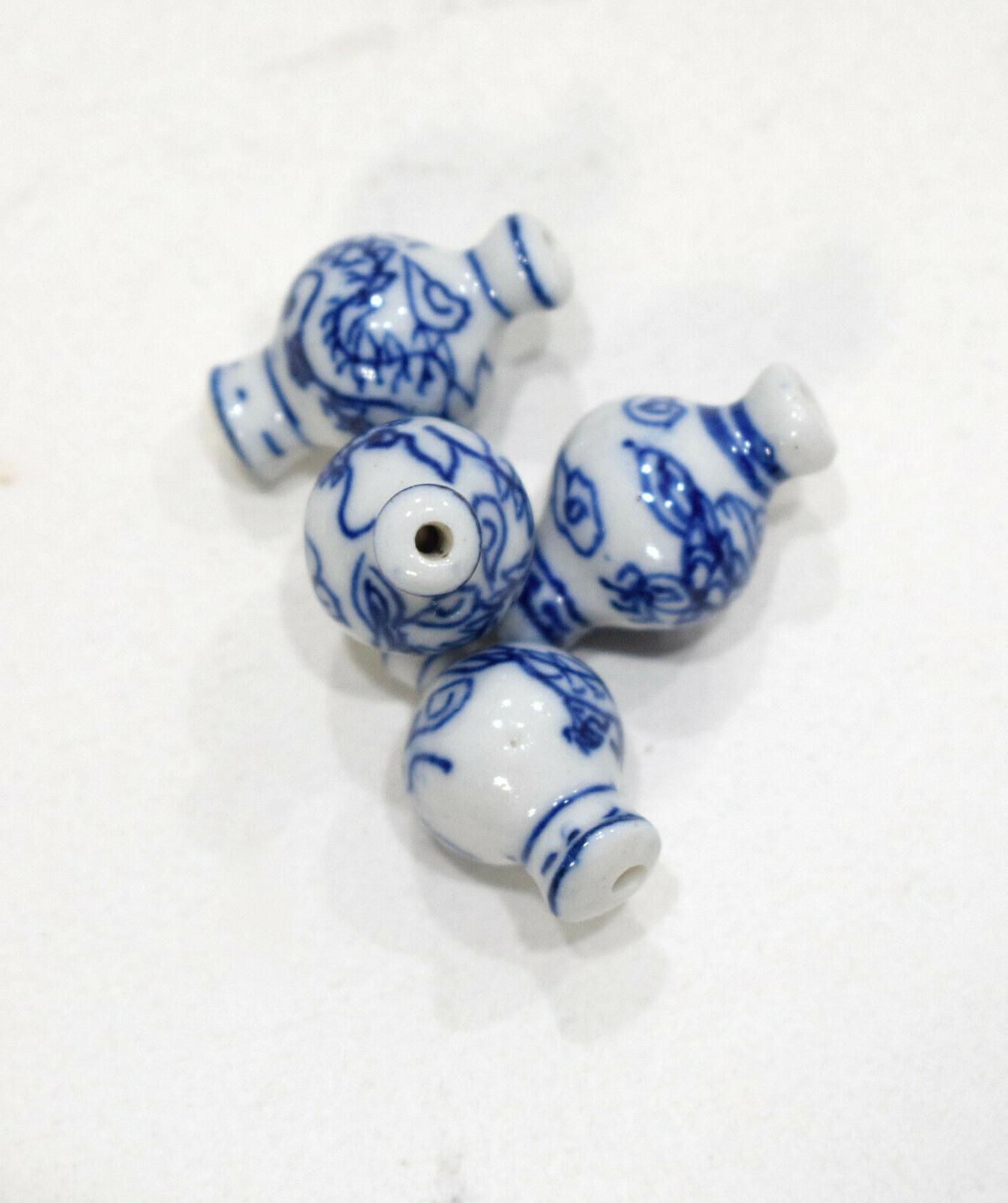 beads chinese blue white porcelain vase beads