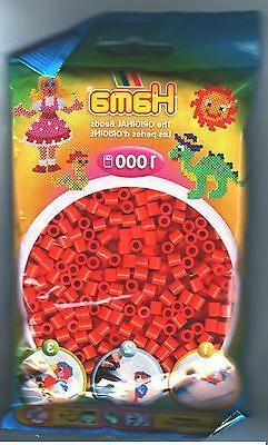 1000 Hama Orange 207-04 Color Iron On Midi Beads