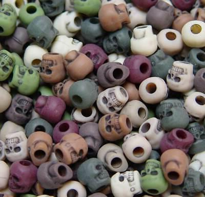 camouflage skull pony beads made in usa