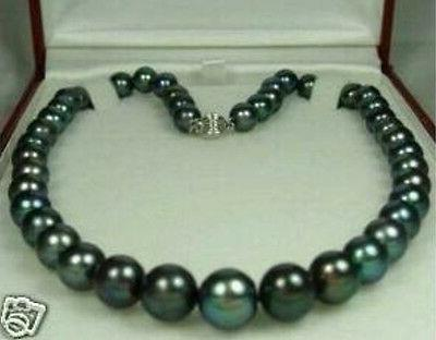 charming 8 9mm natural black pearl necklace