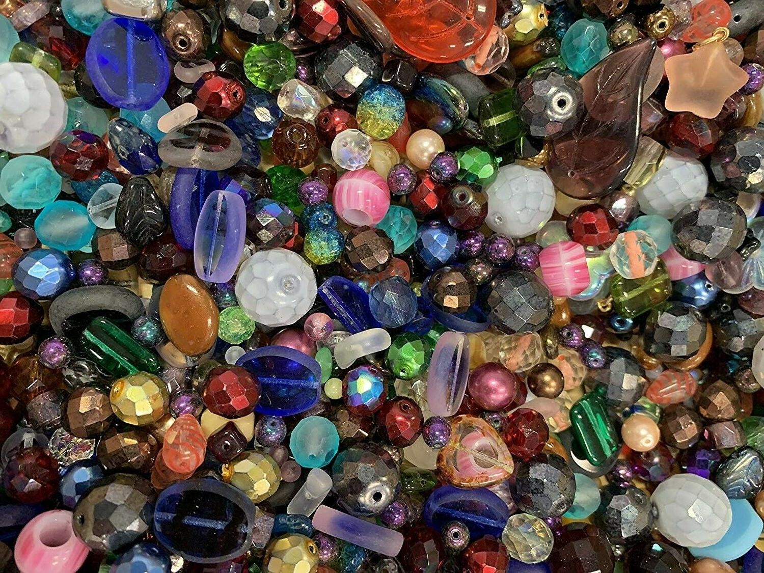 Czech Beads Mix, 4-18mm, Shapes, Bulk ModeBeads