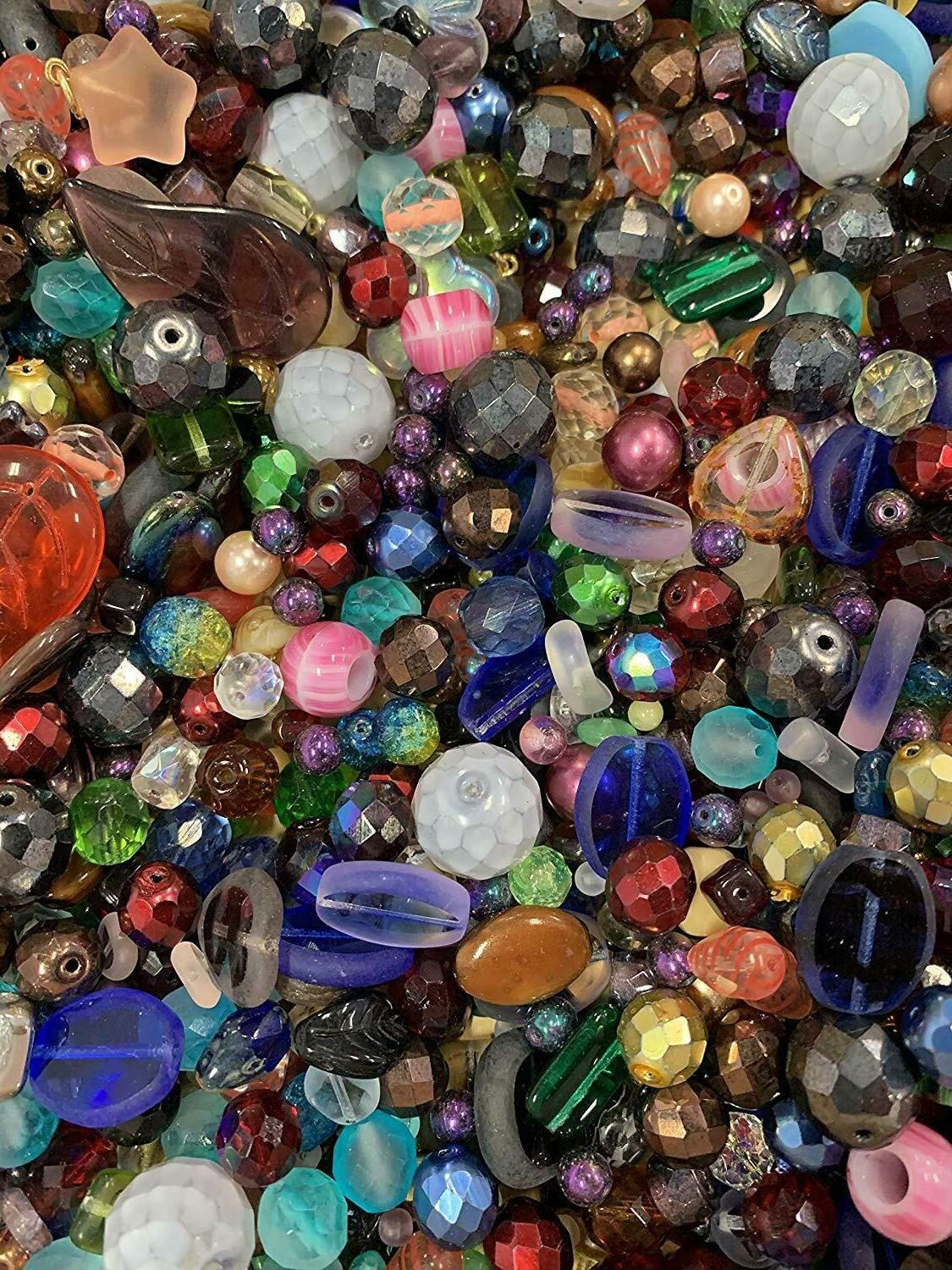 czech glass beads mix 4 18mm assorted