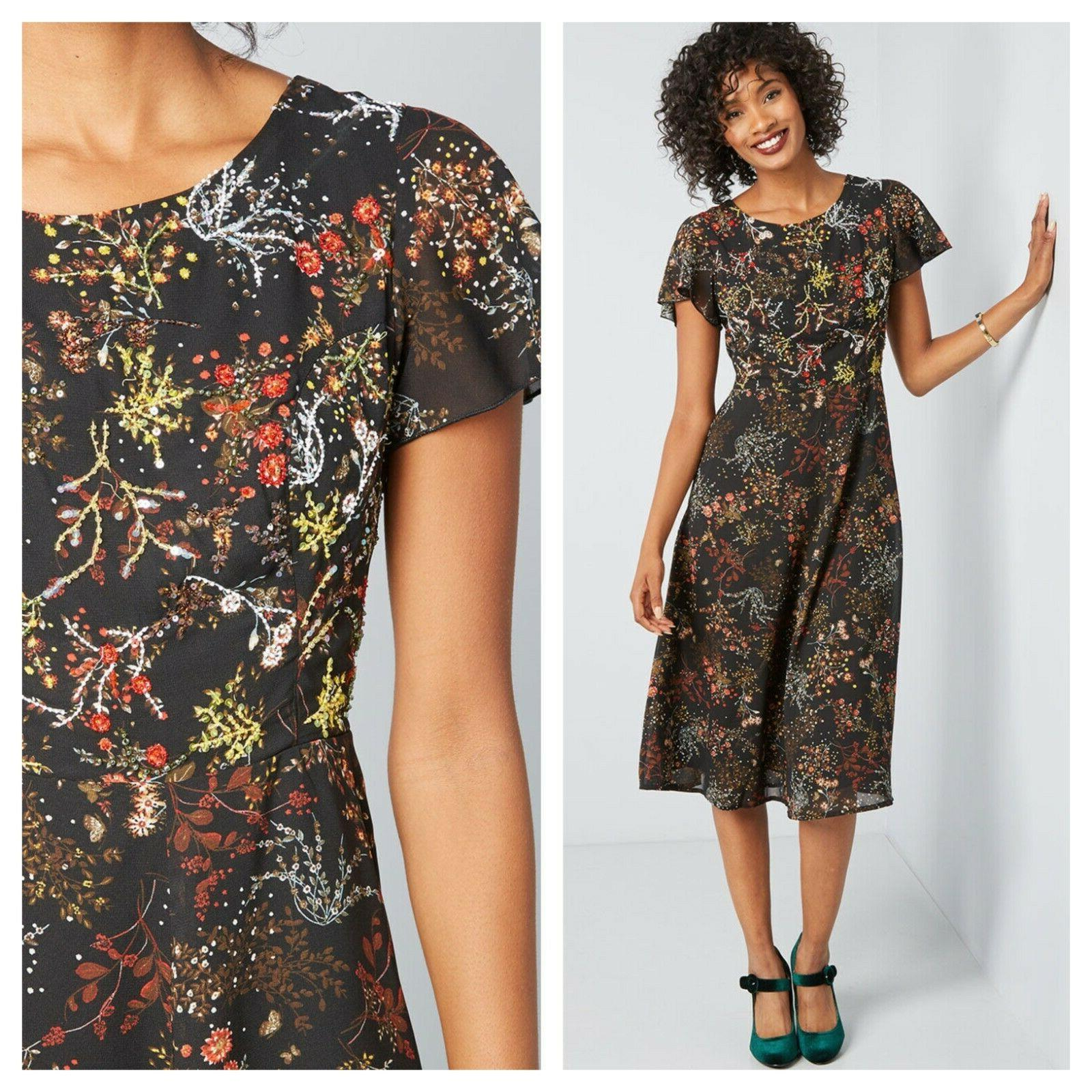 embellished to perfection midi dress